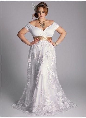 На мой взгляд, полная женщина в таком свадебном платье ... свадебные платья для полненьких цветное свадебное