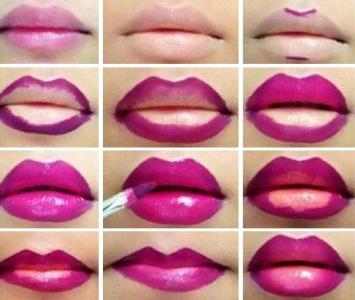 Как сделать губы больше при помощи помады