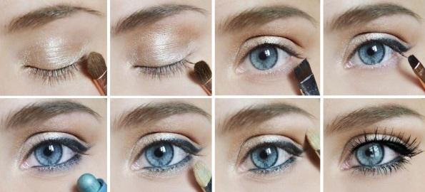Как наложить макияж для голубых глаз