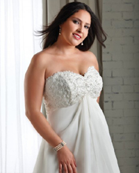 Свадебная мода для полных - лучшие фасоны платьев больших размеров