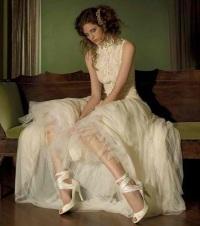 платье в стиле винтаж - Свадебные