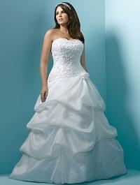 Свадебное платье для полных невест - где делать талию?