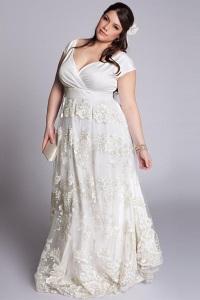 Свадебное платье для полных невест - где делать талию