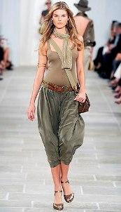 Брюки галифе: линии модной конверсии
