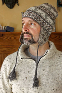 вязаная мужская шапка модное утепление