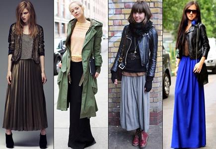 Как правильно носит длинную юбку