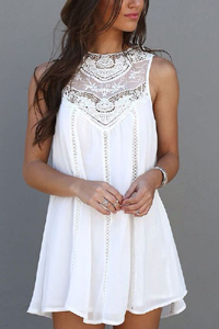 3f538c5e0ed Короткое белое платье - ничем не хуже маленького черного