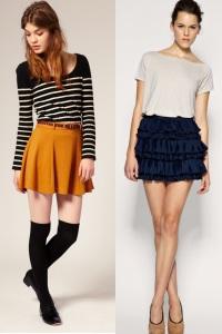 Ношу короткие юбки с колготками