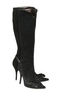 Замшевые сапоги: как носить и ухаживать за обувью