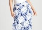 Летняя мода для полных женщин: длинные юбки